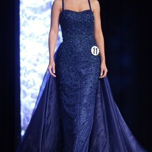 Blue/Purple Evening Gown